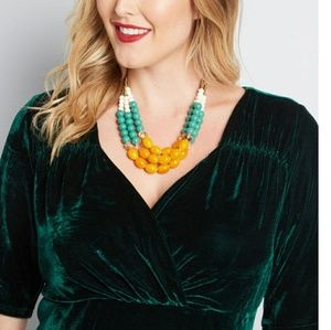 Modcloth Three's A Charm beaded necklace